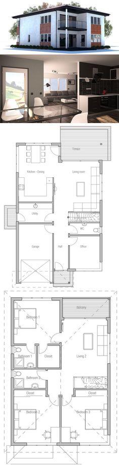 Narrow House Plans On Pinterest Narrow House Plans