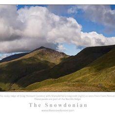 Nantlle Ridge from Cwm Pennant, Eifionydd mountains, Snowdonia