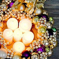 christmas wreaths, christma wreath, ornament, candl wreath, diy christmas