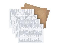 8 Textile Cards (A2). $12.00, via Etsy.