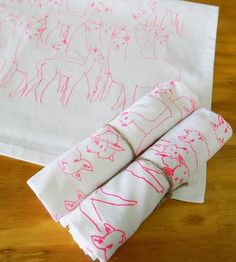 Alpacas Tea Towel Pair