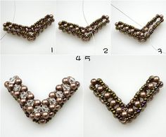 Make your own charm necklace out of several pearl beads and seed beads from  Pandahall.com featured in Bead-Patterns.com