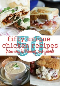 50 Easy Chicken Dinner Recipes on chef-in-training.com ...This is the PERFECT list for any dinner rut! SO many great and unique options to choose from! chicken dinners, 50 uniqu, chicken recipes, bbq chicken, food, chicken dinner recipes, uniqu chicken, chicken calzon, recipe chicken