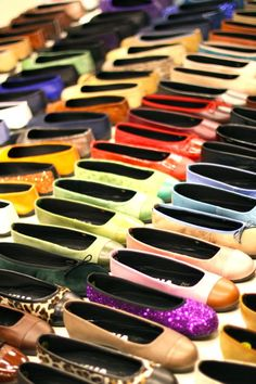 colorful shoe display in Barcelona