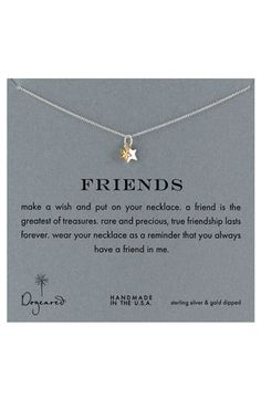 Dogeared 'Friends' Reminder Pendant Necklace | Nordstrom