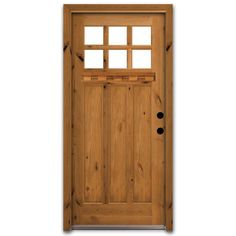 Renovating a bungalow? This Craftsman style door may be the perfect fit.