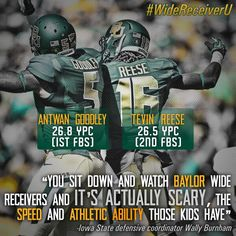 #WideRecieverU continues to earn respect. #SicEm (via  BUFootball on Twitter) #Baylor