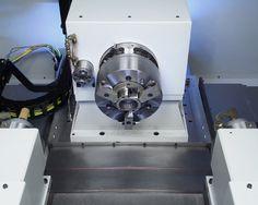 #EMAG  SK 204 machining area Work head with dressing spindle. #camshaft #grinder #grinding