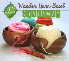 Gorgeous wooden yarn balls from FurlsCrochet.com! Enter to win one from 8/4/14-8/11/14.