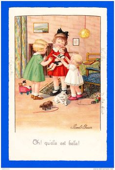 Vintage postcard by Pauli Ebner