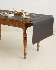 chalk board table cloth!