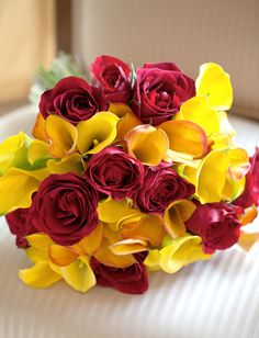 Calla lilies and Roses Bouquet