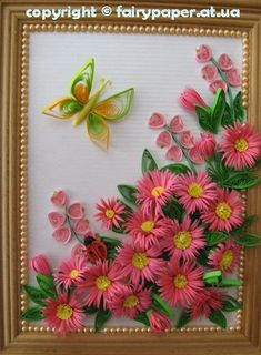 How to DIY Quilling Flower Framed Wall Art