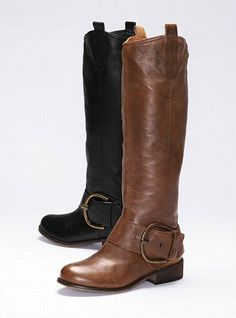 victoria secrets, fashion, cloth, style, leather boots, riding boots, steve madden, shoe, frienzzi leather