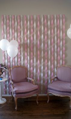 wall streamer, pretti pictur, pictur backdrop, birthday parties, birthday decoration, photo booths, crepe paper, streamer decoration, baby showers