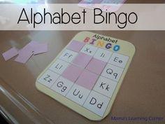 Printable Alphabet Bingo for Preschool/Kindergarten