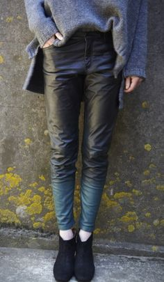 Kirin leather pants - Plümo Ltd