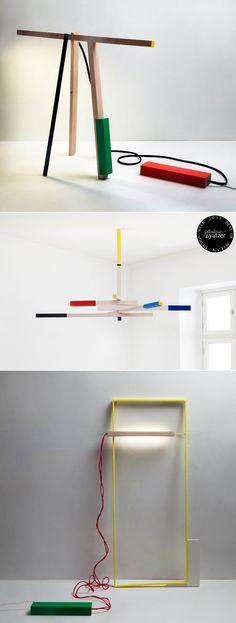 OJENTAA sculptural floor light by Mari Isopahkala. (Salone Satellite). BEST OF MILAN DESIGN WEEK 2013 /  http://www.yatzer.com/best-of-milan-design-week-2013 /