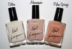 Nude Shade Nail Polish by #AmericanApparel.  #nail #nailpolish #beauty