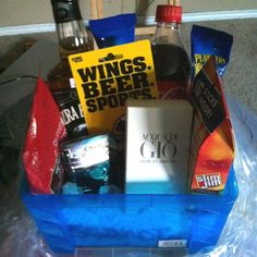 The Ultimate man basket! My Husband loved it!