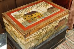 Rebekah L. Smith Rufus Porter-style inspired box www.rebekahlsmith.com