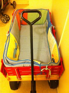 Use Bumper pads to pad wagon to make more comfortable,especially for younger children