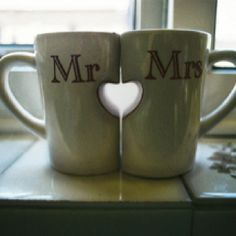 futur, heart, shower gifts, mrmrs, gift ideas, coffee cups, mornings, drinks, wedding gifts