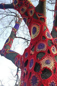 Yarn bomb #crochet #wool #yarn #knitting