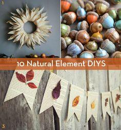 10 DIYS That Use Natural Elements