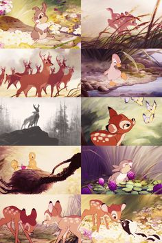 5) Bambi (1942) watched 1/31/14 ~I think this movie is quite beautiful, look at these scenes especially the backgrounds! It really is a work of art! Of course that can be said of most, if not all of the Disney movies, in my opinion.