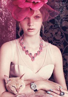 The Pleasure Time | Lenka Varvarova | Elena Rendina #photography | Vogue Japan August 2012