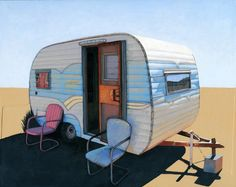 Desert Camper two  limited edition archival print by leahgiberson, $35.00
