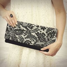 Beautiful Lace Patterned Clutch by MojoSpaStyle