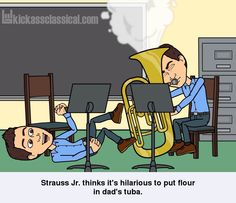 If classical music composers used Bitstrips - J. Strauss