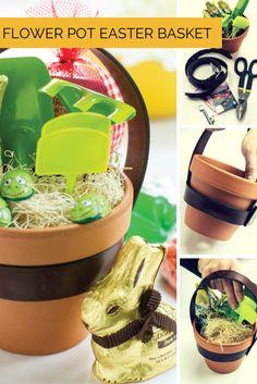 Make a Terra Cotta Flower Pot Easter Basket! --> http://www.hgtvgardens.com/easter/flower-pot-easter-basket?soc=pinterest