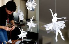 ballerina dancer paper snowflake template