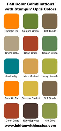 Stampin' Up! Fall Color Combos