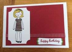 Stampin' Up! Stylin' Girl in raspberry ripple