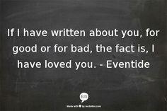 - Eventide / Writing