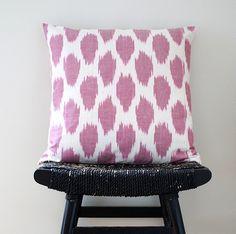 Pink Dot Uzbek Pillow.