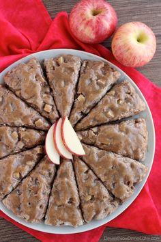 Brown Sugar Glazed Apple Scones on MyRecipeMagic.com