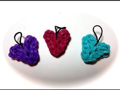 Link for instructions and video to make a Heart Charm using just one Rainbow Loom!