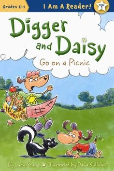 ER YOU. Daisy the dog likes to look at things but her little brother, Digger, explores every smell as they walk to the park for a picnic, but after sniffing a hole his nose fills with dirt, leaving him unprepared for the skunk they meet on the way home.