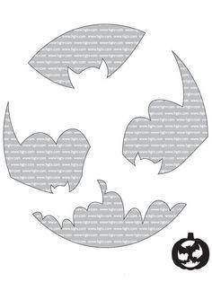 Bats - Beginner Halloween Pumpkin-Carving Templates on HGTV