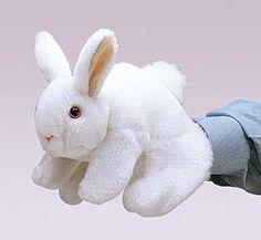 puppets, white bunni, rabbits, rabbit puppet, bunni puppet