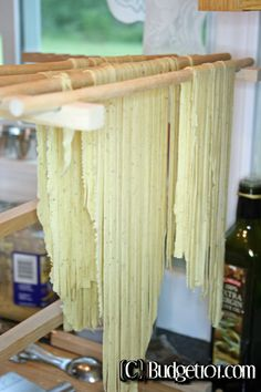 Rosemary pepper pasta makes a lovely accompaniment to lamb, steak and seafood alike.  Homemade pasta is extremely easy to prepare once you get the hang of it! This entire recipe costs less than .40 to prepare
