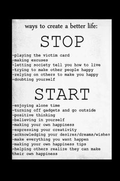 How to make a better life