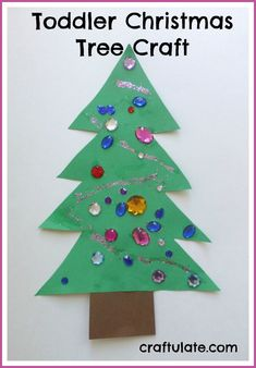 Toddler Christmas Tree Craft - Craftulate