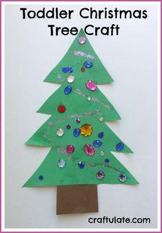 Toddler Christmas Tree Craft - Craftulate