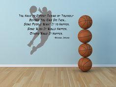 Michael Jordan, Inspirational Quote, Basketball - Decal, Sticker, Vinyl, Wall, Home, Bedroom Decor via Etsy